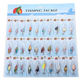 30x Metal Fishing Lures Spinners Baits Assorted Fish Hooks Tackle
