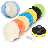 Drillpro 8pcs 4inch Sponge Polishing Waxing Buffing Pads Kit Compound Polishing Car Drill