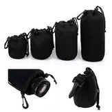4Pcs Soft Neoprene S M L XL Lens Pouch Bag For Canon Nikon Sony Pentax DSLR Camera