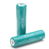 2PCS MECO 3.7v 4000mAh Protected Rechargeable 18650 Li-ion البطارية