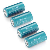 4pcs MECO 3.7V 1200mAh CR123A/16340 Batterie Li-ion Rechargeable