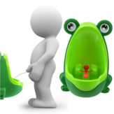 Reizende Frosch Kind Kind Potty Removable Toilet Training Kids Urinal Early Learning Jungen Pee Trainer Badezimmer