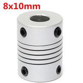 8mm x 10mm Aluminium Elastyczne sprzęgło wału OD19mm x L25mm CNC Złącze sprzęgła silnika krokowego