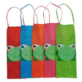 Childern Kids Cartoon Frog Printed Waterproof Costume Painting Apron