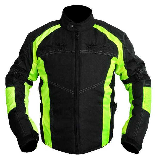 Motorcycle Off Road Riding Racing Jackets with Green Fluorescent