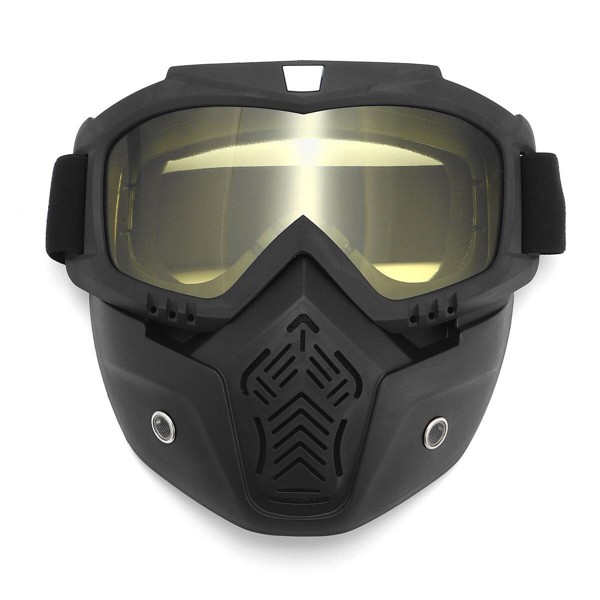 Capacete da motocicleta Máscara escudo óculos de rosto aberto moto motocross eyewear moto