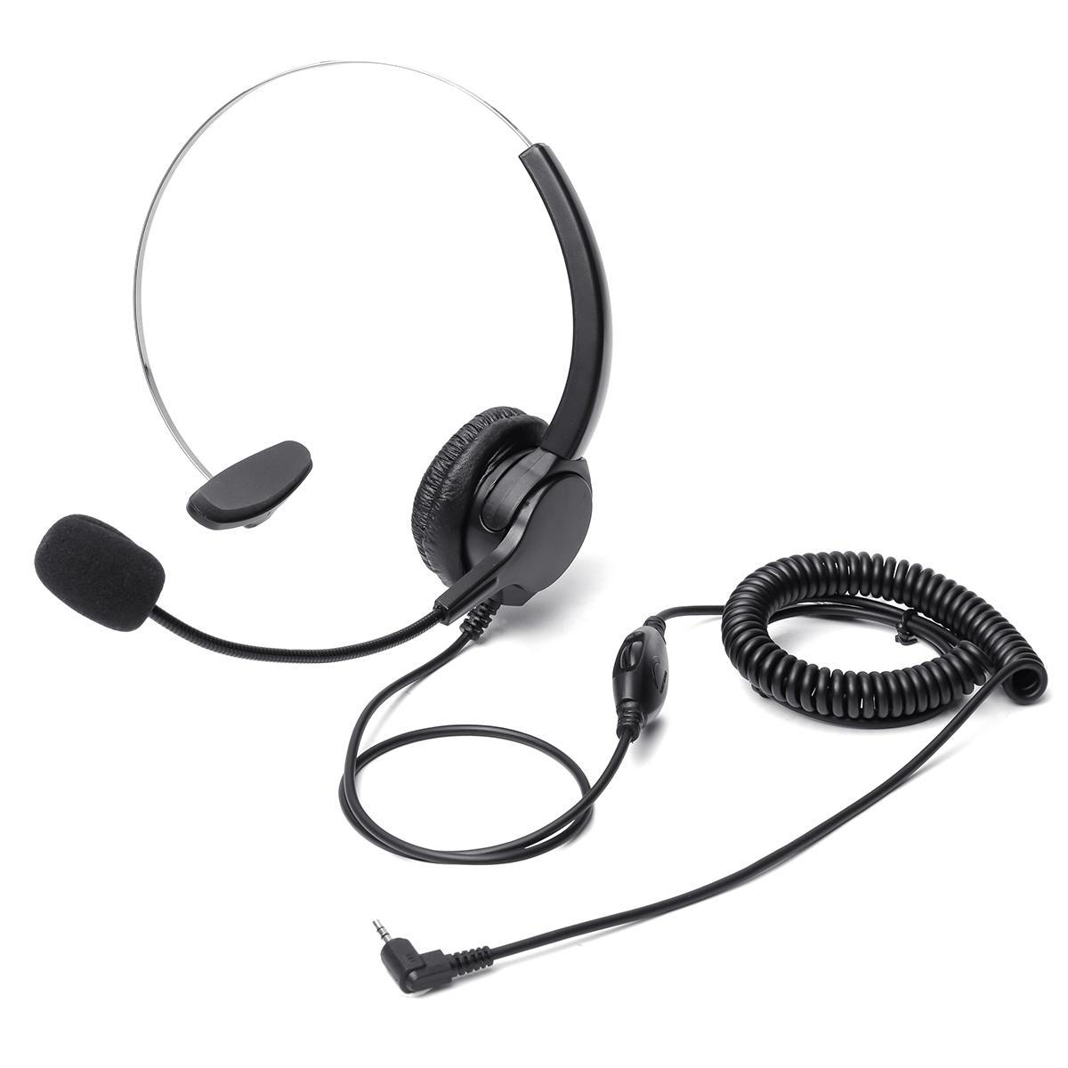Монофоническая телефонная гарнитура Наушник с 2,5-мм штепсельной вилкой Hands-Free с шумоподавлением