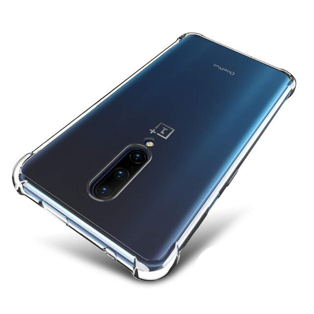 BAKEEY Transparent Air Cushion Shockproof Soft TPU Protective Case For OnePlus 7 Pro / 1+7 Pro
