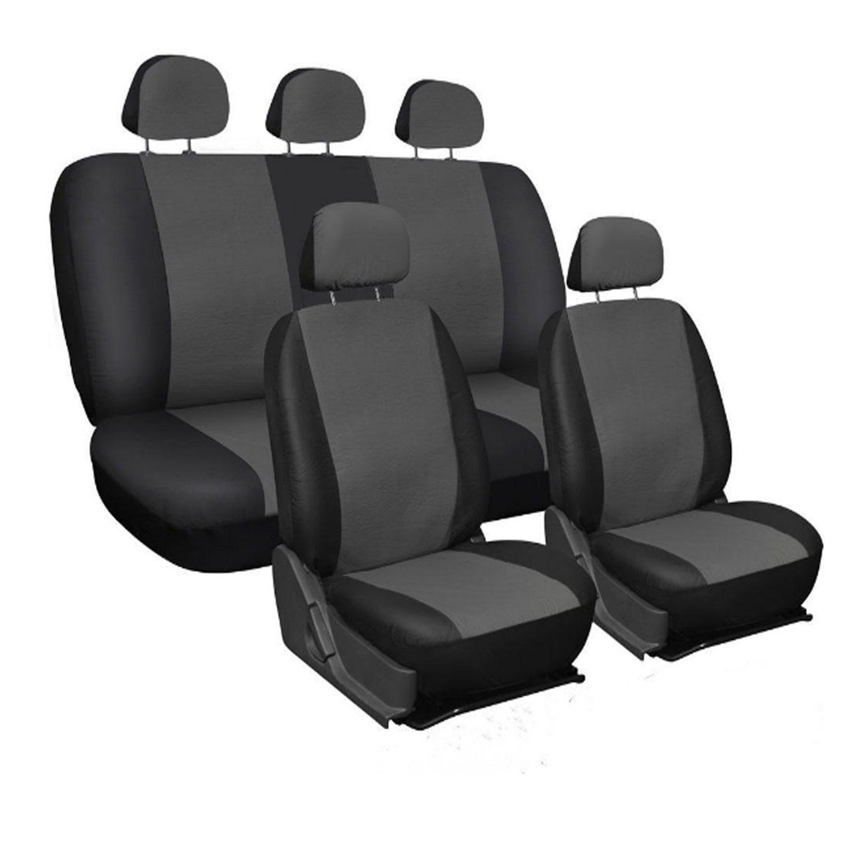 9Pcs/Set PU Leather Car Seat Detachable Cover Front Bucket Full Set Chair Protector Universal