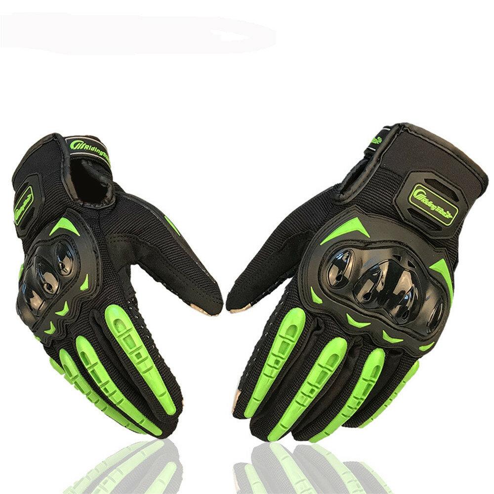 Luvas da motocicleta do motocross da tribo da equitação da tela de toque Anti-deslizamento dedo completo antiderrapante