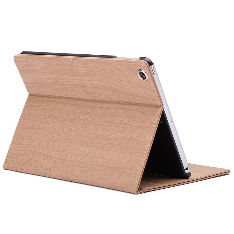 Wood Texture PU+PC Smart Sleep Flip Kickstand Case For iPad Mini 1 2 3 7.9 Inch