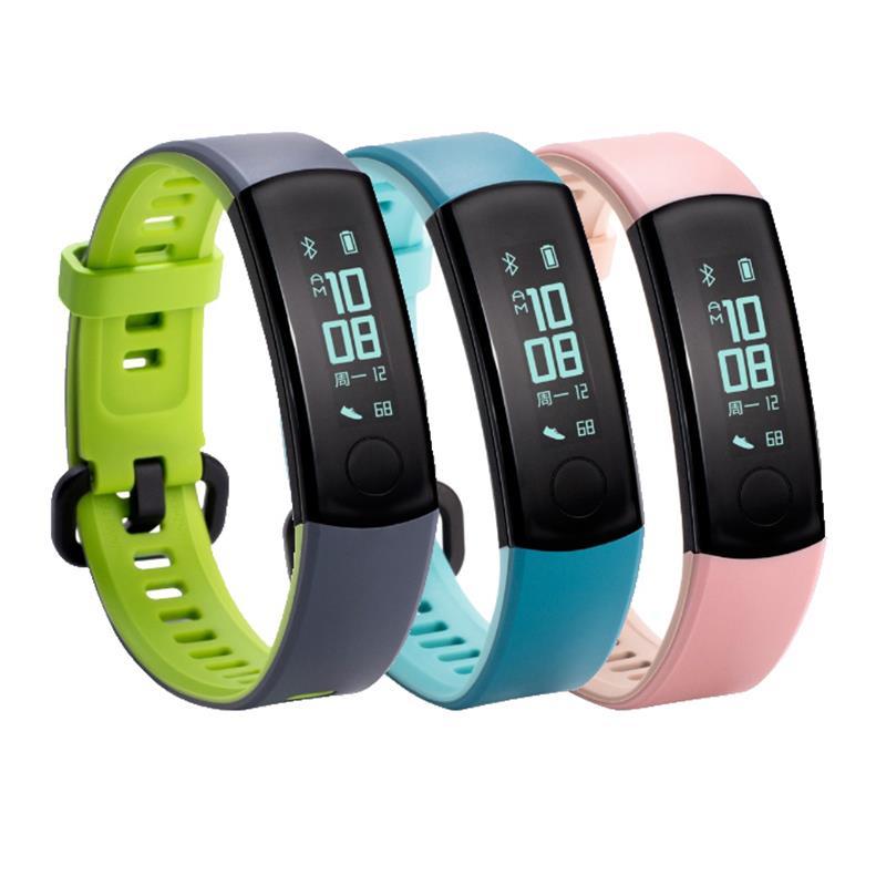 Huawei Honor Banda 3 Dual Cor Monitor de Tempo Real HR 5ATM 30 Dias de Espera Aptidão Rastreador Relógio Inteligente