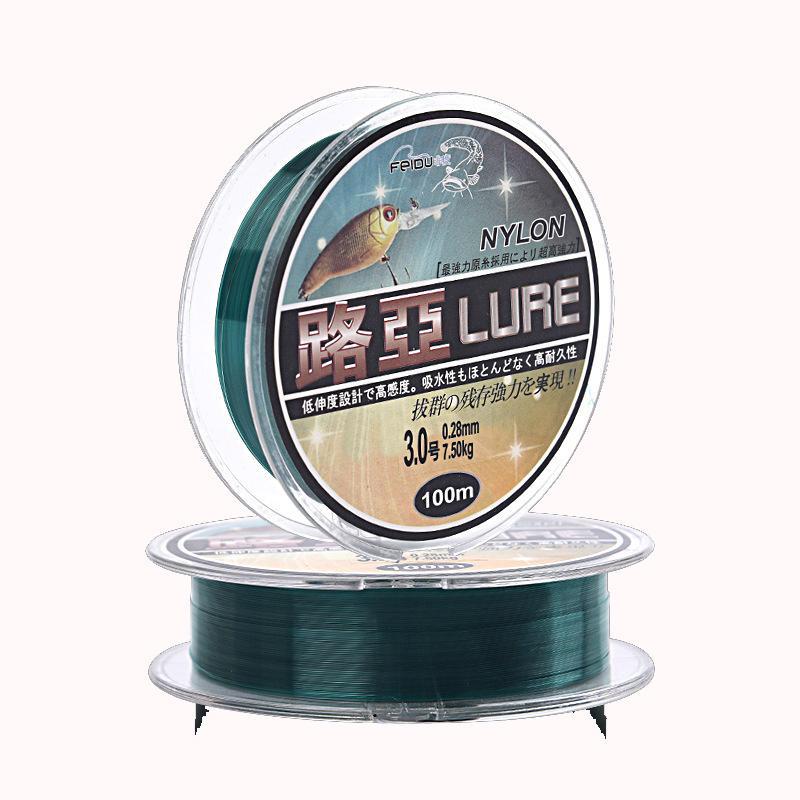 LURE 4.0 100 м / шт. Nylon Рыбалка линия мононити изящная износостойкая линия Рыбалка