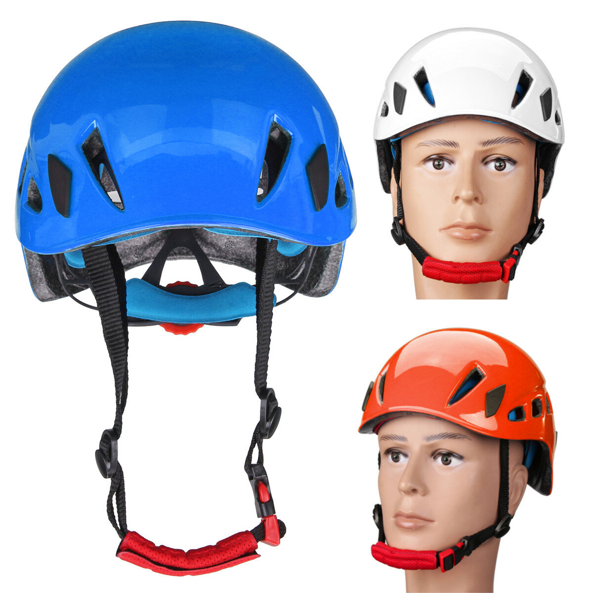 58-62 cm EPS Rock Climbing Safety Helmet Scaffolding Construction Rescue Security Hat Protection