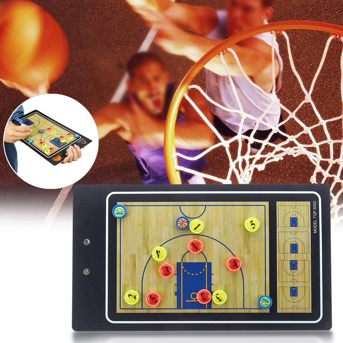 Professional Double Side PVC Preciso Magnetic Basketball Training Tactical Board