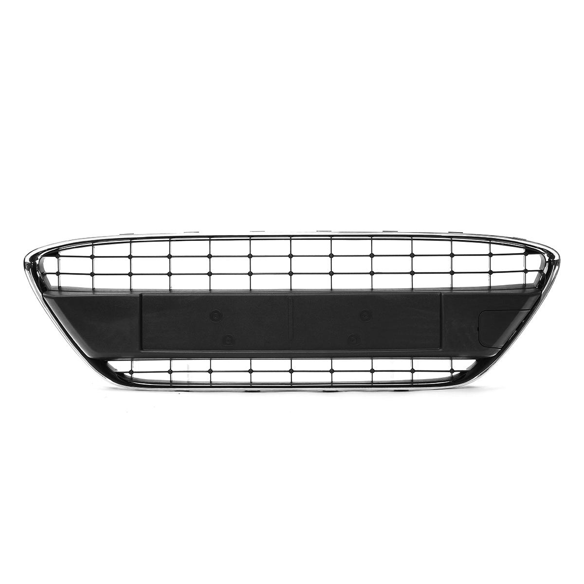 Car Front Bumper Center Laagste Grill Mesh Black W / Chrome Trim Voor Ford Fiesta MK7