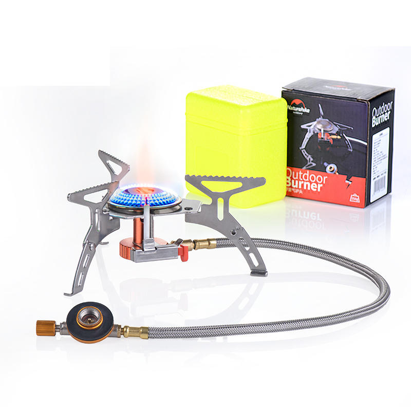 Naturehike NH17L040-T Outdoor Camping Gas Burner Ovens Portable Windproof Tank Picnic Cooking Stove