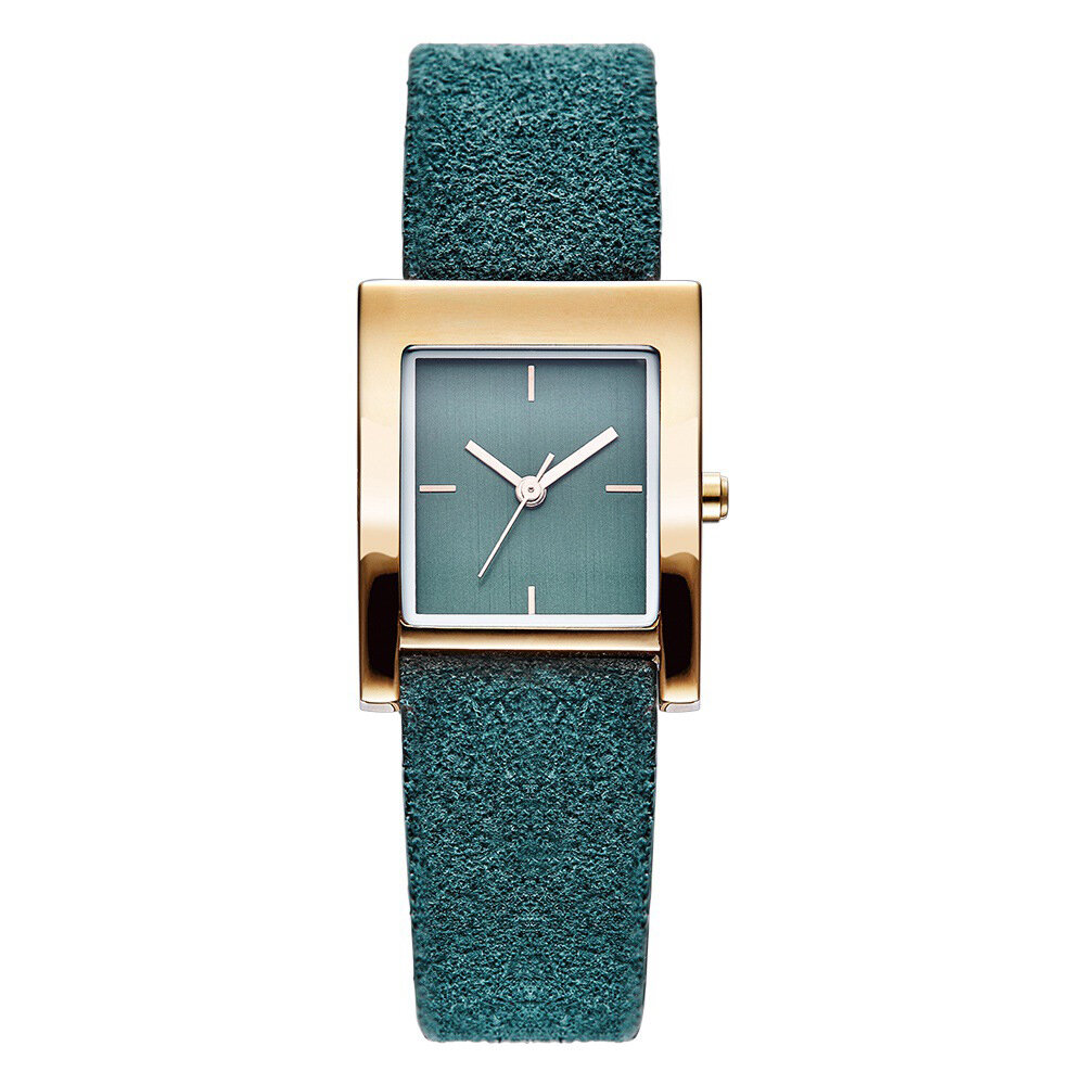 SK K0080 Rectangle Women Wrist Watch Casual Style Leather Strap Quartz Watches