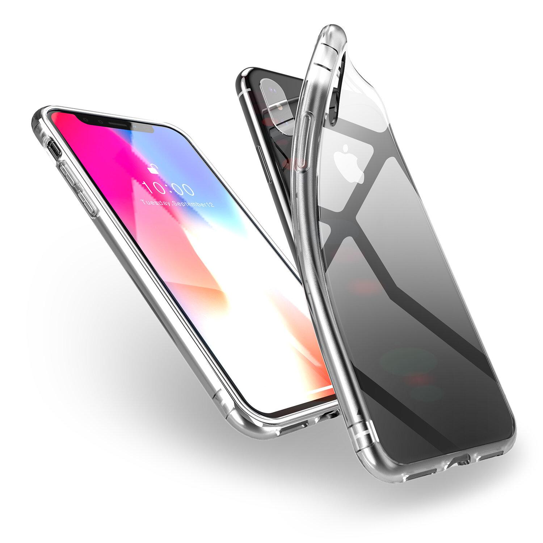 DUX DUCIS protetora Caso para iphone XS max limpar Soft TPU Almofada de Ar Cantos Tampa Traseira