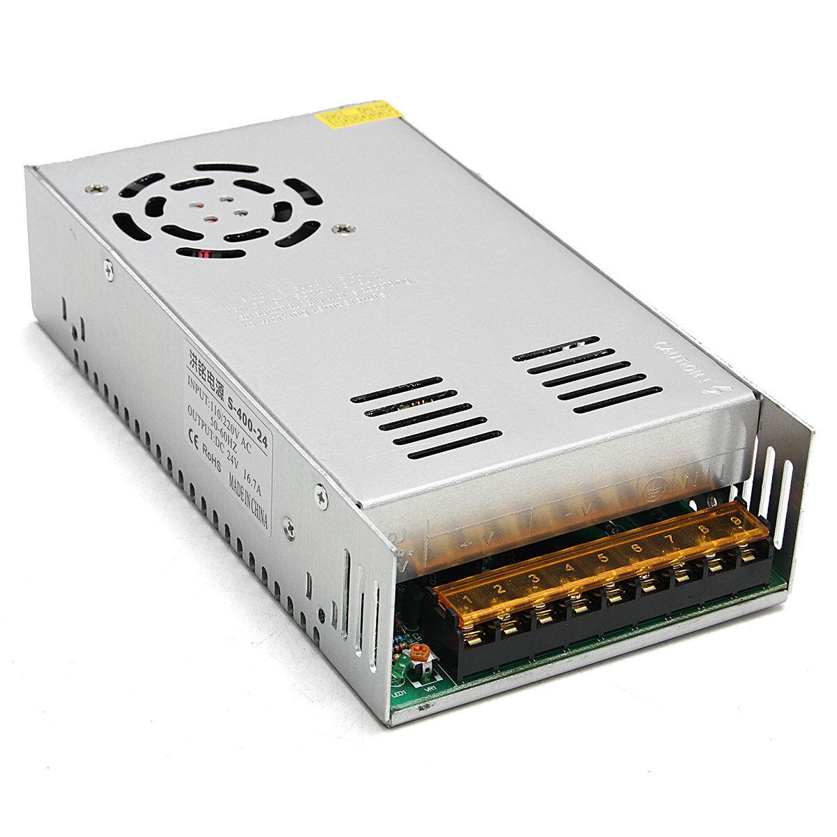 Geekcreit®AC 110-240V入力DC 24V 17A 360Wスイッチング電源ドライバボード