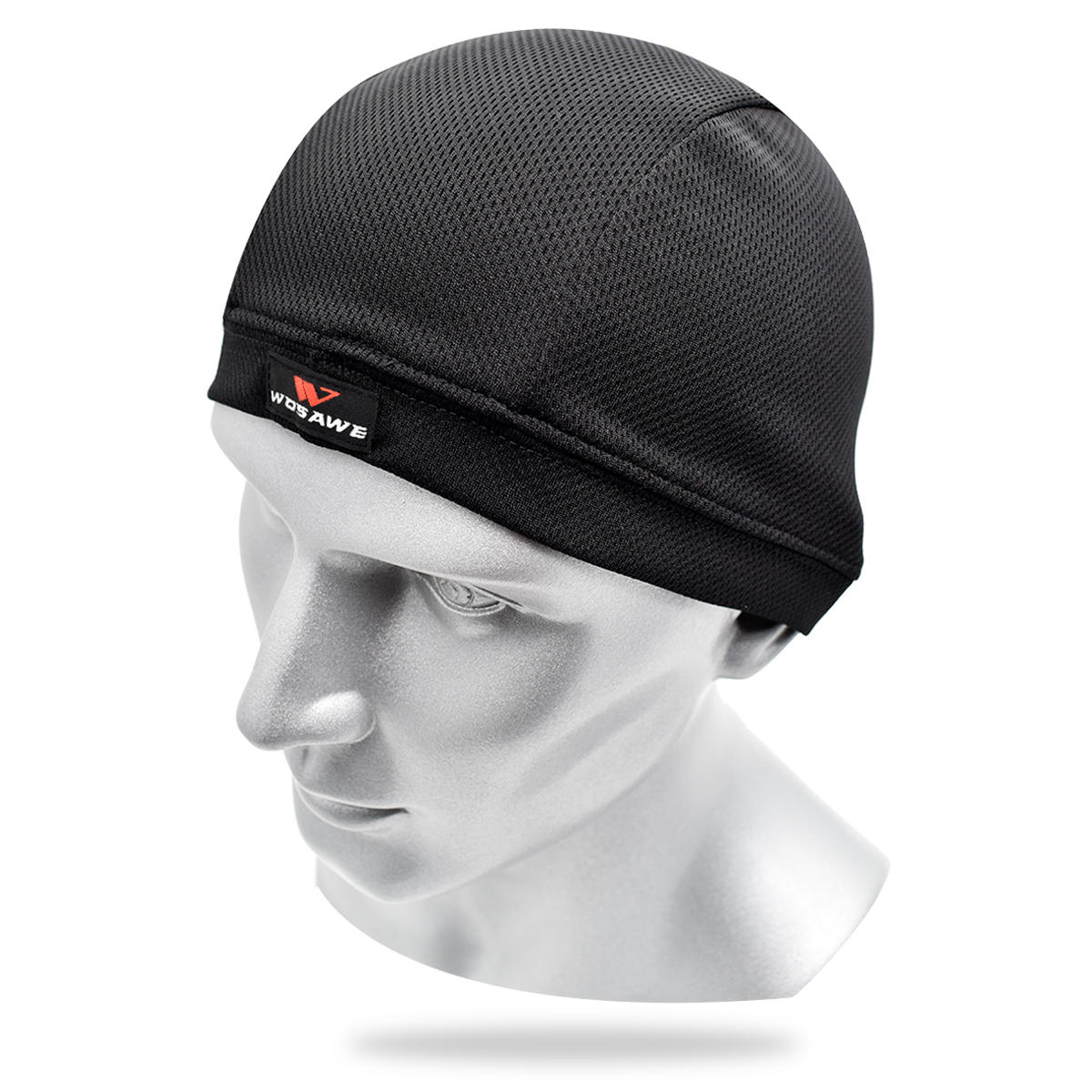 WOSAWE Quick Dry Helmet Inner Hat Anti-fouling Off-road Motorcycle Headgear Hooded Sweat Cap