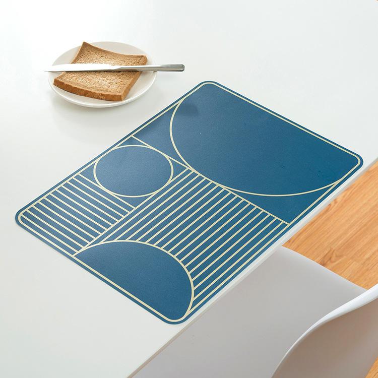 Home Waterbestendig Vetvrij Simpel geometrisch patroon Hittebestendig isolerend eetmat Mat Placemat