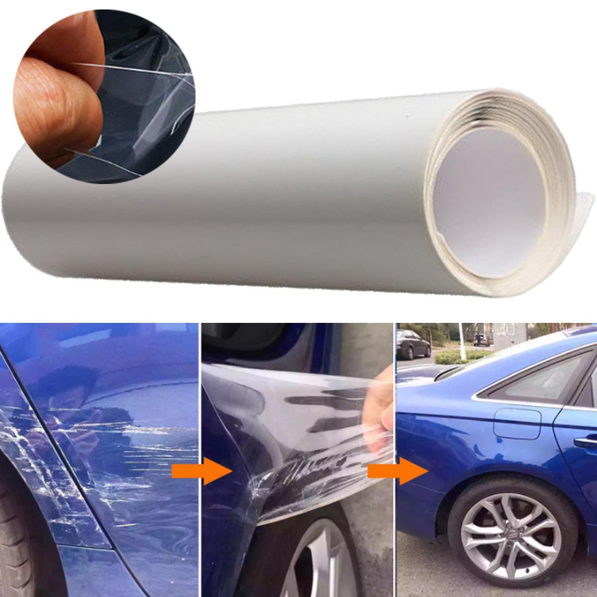 40x200cm Car Door Edge Clear Protective Satin Finish Vinyl Wrap Guard Film Sheet Transparent Sticker Cover Coat