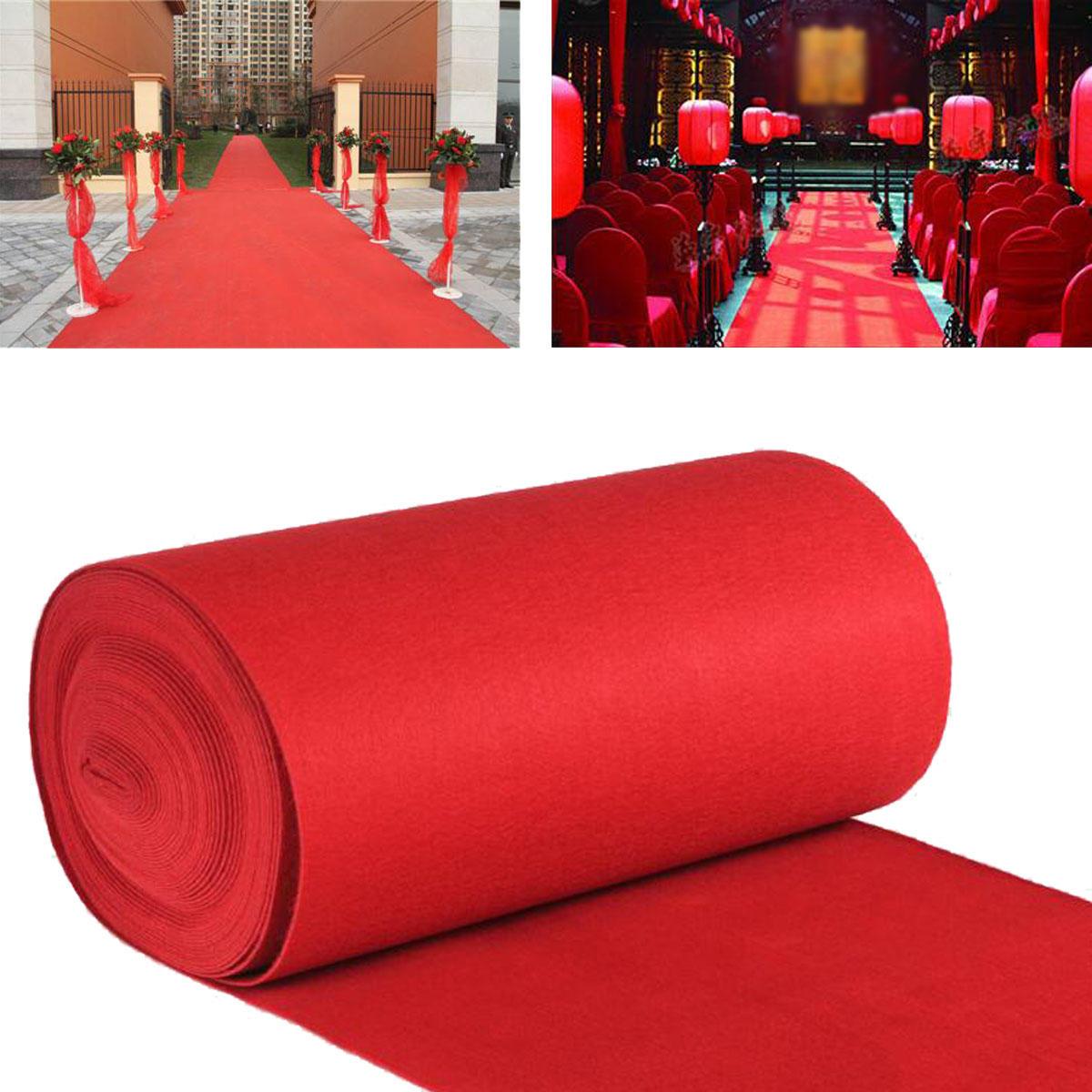 10 mt / 15 mt VIP Roter Teppich Läufer Party Dekoration Hochzeit Gang Boden Einweg Eingang Szene Teppich