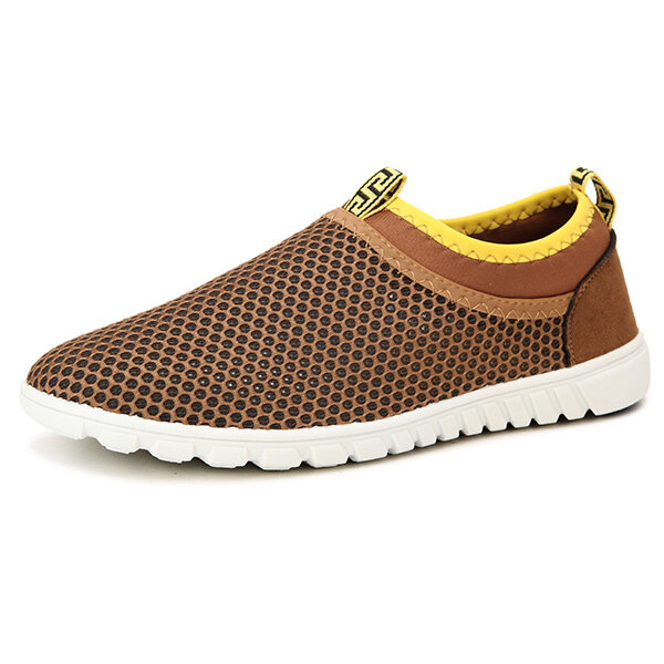 US Size 6.5-10.5 Men Casual Sport Shoes Flats Comfortable Breathable Mesh Hollow Out Athletic Shoes