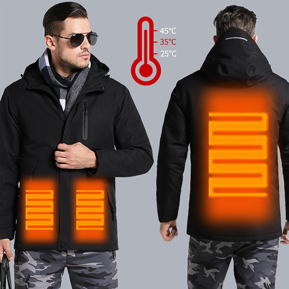 Cappotto di guida di corsa con gli sci del motociclo del lavoro incappucciato di riscaldamento intelligente di USB della donna dell'uomo