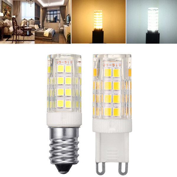 ARILUX® E14 G9 5W SMD2835 Pure White Warm White LED Corn Light Bulb No Flicker AC220V