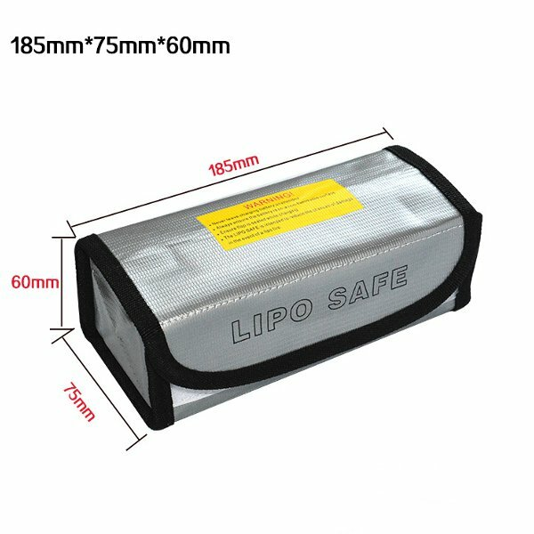 185x75x60mm Lipo Battery Portable Fireproof Explosion Proof Safety Bag