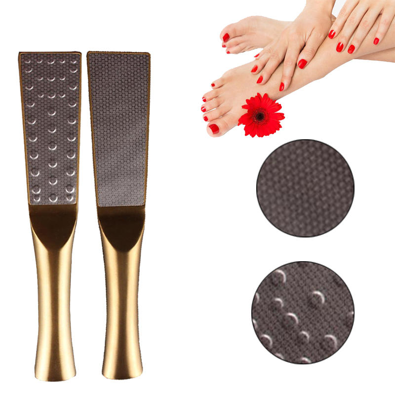 Titanium Two Sided Exfoliating Foot Grinder Stainless Steel Foot File Foot Care Tool