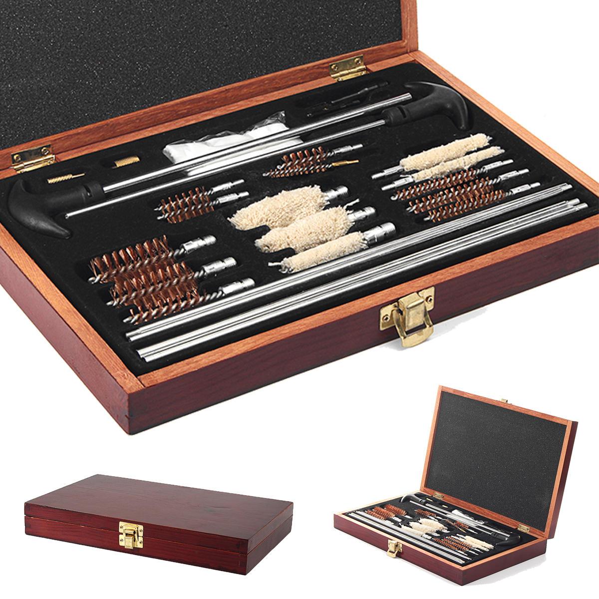 28Pcs Brush Cleaning Kit Hunting Shotgun Brush Set 6mm Solid Brass Rod