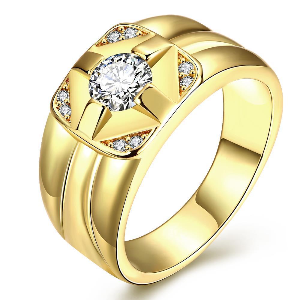 Anelli per uomo in oro placcato oro moda K di Zircon per uomo