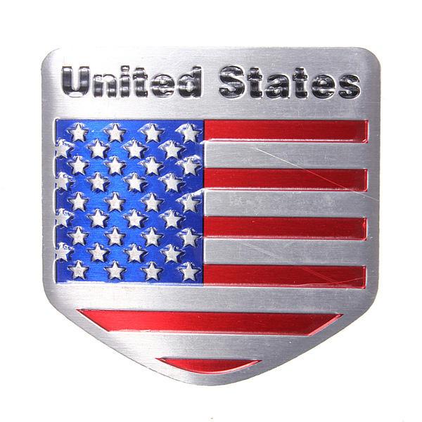 Usa réaménagement de l'automobile drapeau métallique autocollant de voiture badges emblème de décalque