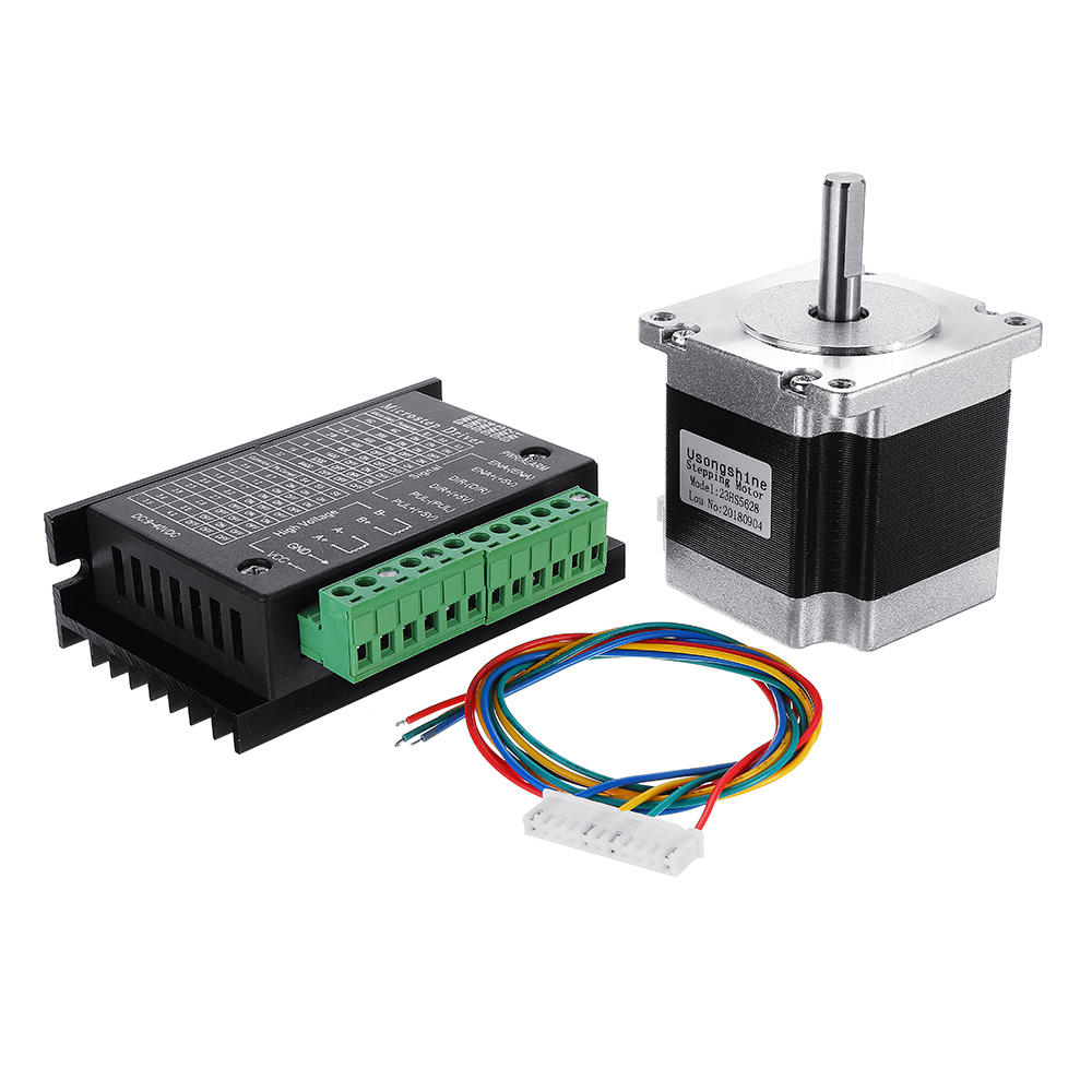 Nema 23 23HS5628 2.8A Two Phase 6.35mm Shaft Stepper Motor With TB6600 Stepper Motor Driver For CNC Part 3D Printer