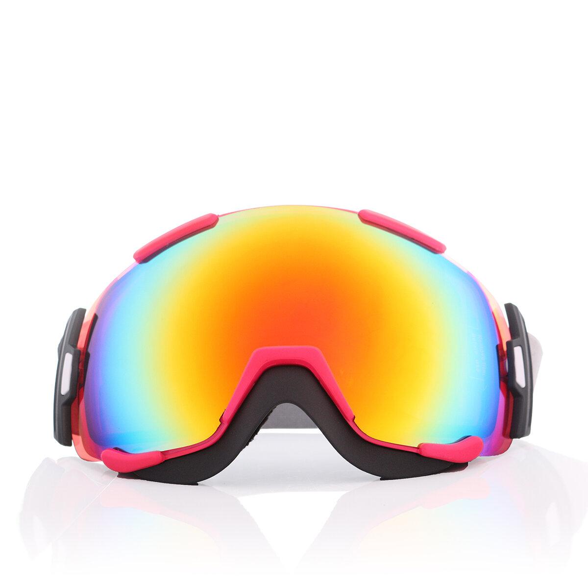 Unisex Outdooors UV lunettes de protection Ski moto équitation anti-brouillard miroir lentille