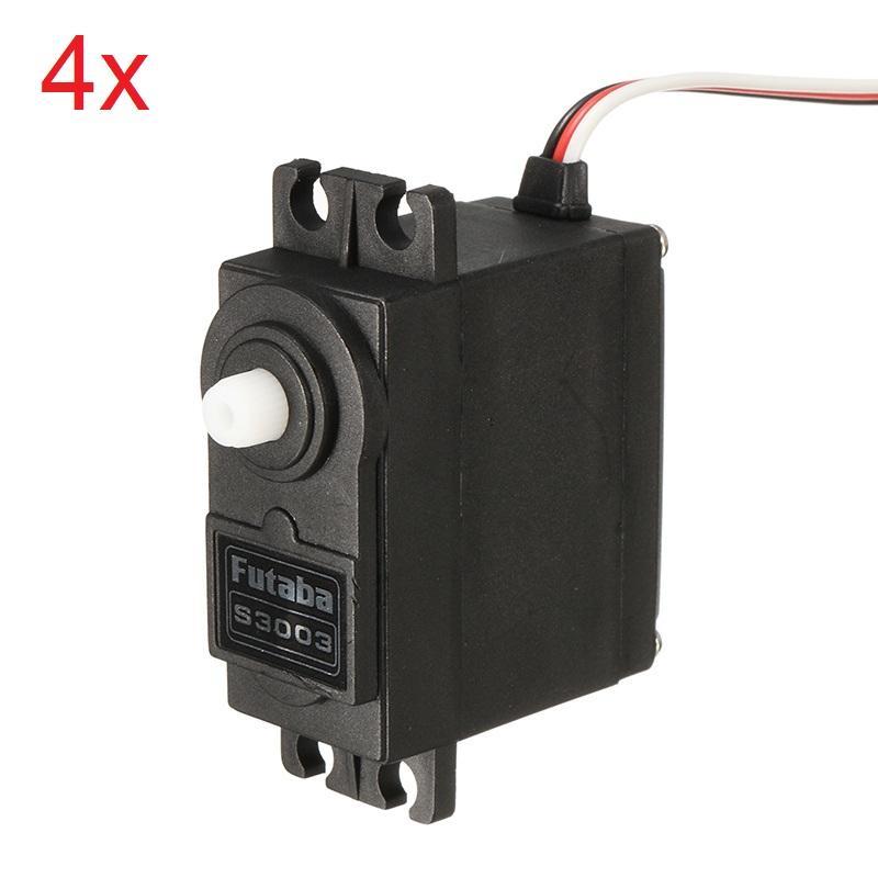 4 X Genuine Futaba S3003 Standard Nylon Gear Servo For Remote Control Model