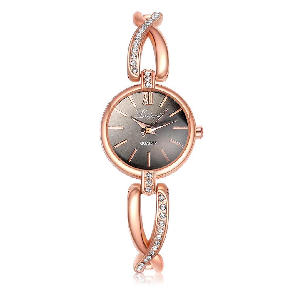 LVPAI P119 Crystal Casual-stijl dameshorloge armband dameshorloge met quartzhorloge