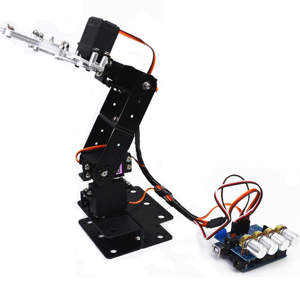 Pequeño Hammer DIY 4DOF Brazo robótico RC de aluminio