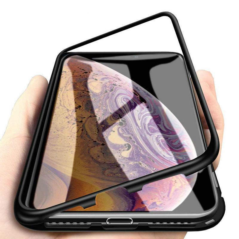 Baseus Clear Magnetic Adsorption szkło hartowane ochronne etui ochronne dla iPhone XS