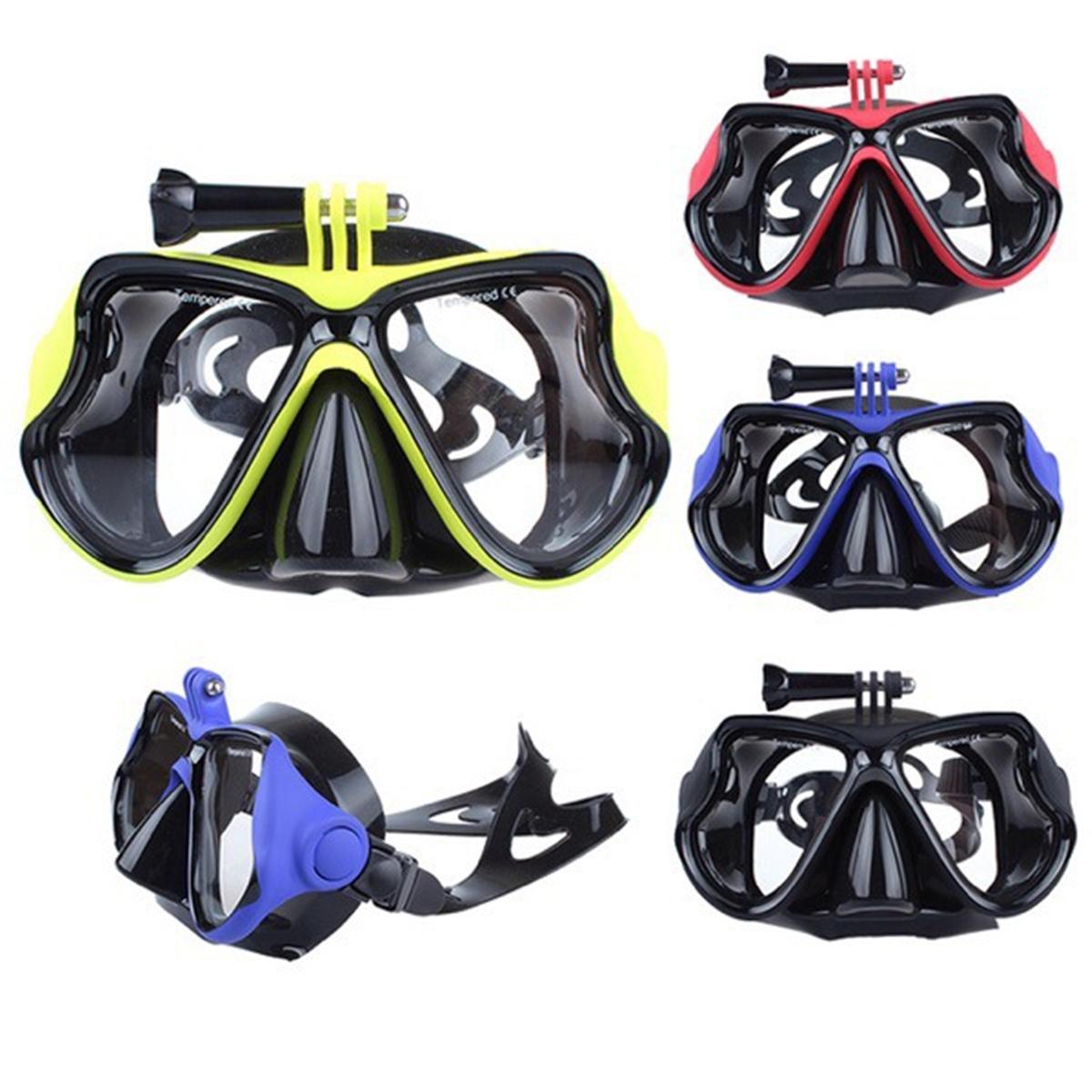 Diving Mask Scuba Snorkel Water Goggles Visage Lunettes Mount For GoPro Hero 4