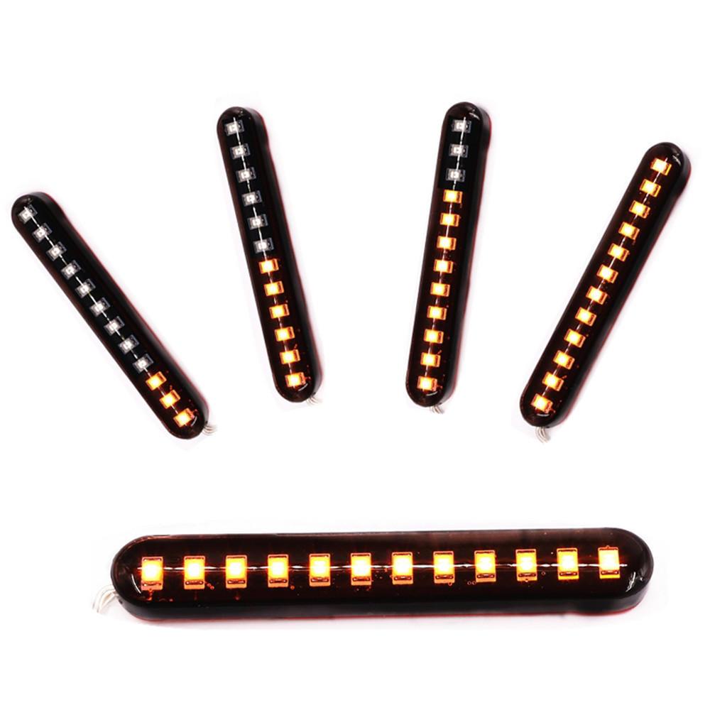 2X 12 V 3000 K 6 W Fluindo LED Mini Tiras Motocicleta Carro Sinal Virar Luzes