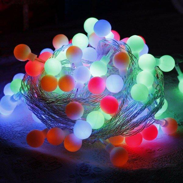 Noël coloré LED étoile venonat forme boule lumière chaîne rideau lumière mariage décoration