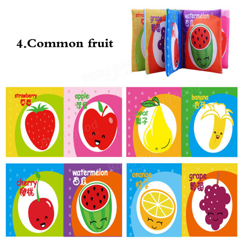 1Pcs Baby Kids Cognitive Intelligence Development Cloth Cognize Early Educational Toy Early Sleep Story Books