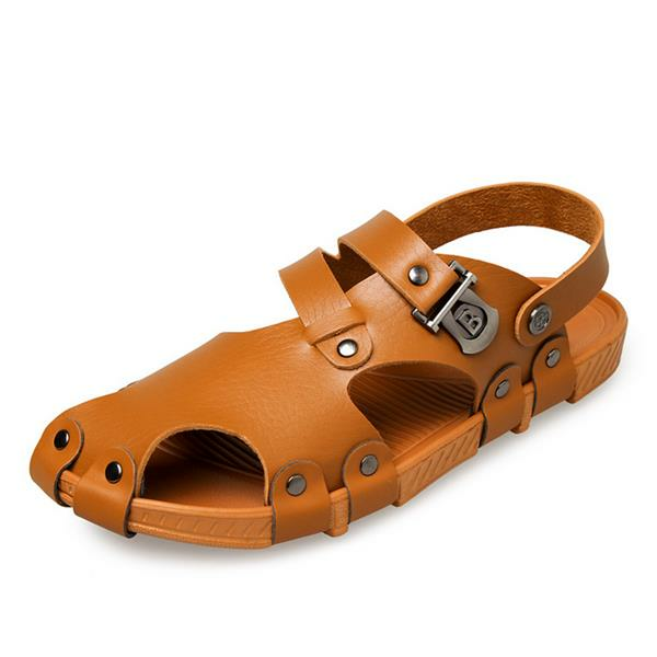 Men Sandals Summer Casual Hole Slippers Beach Shoes
