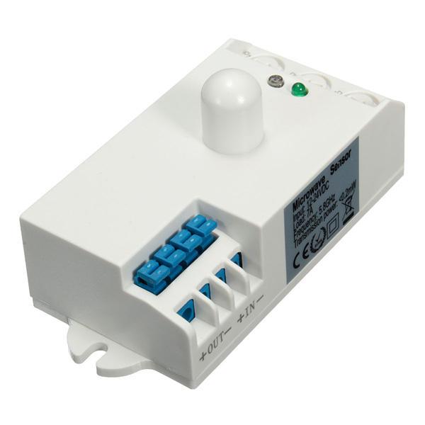 Sk-807-dc dc 12v-24v commutateur d'éclairage détecteur de mouvement du corps du capteur 5.8ghz micro-ondes radar hf