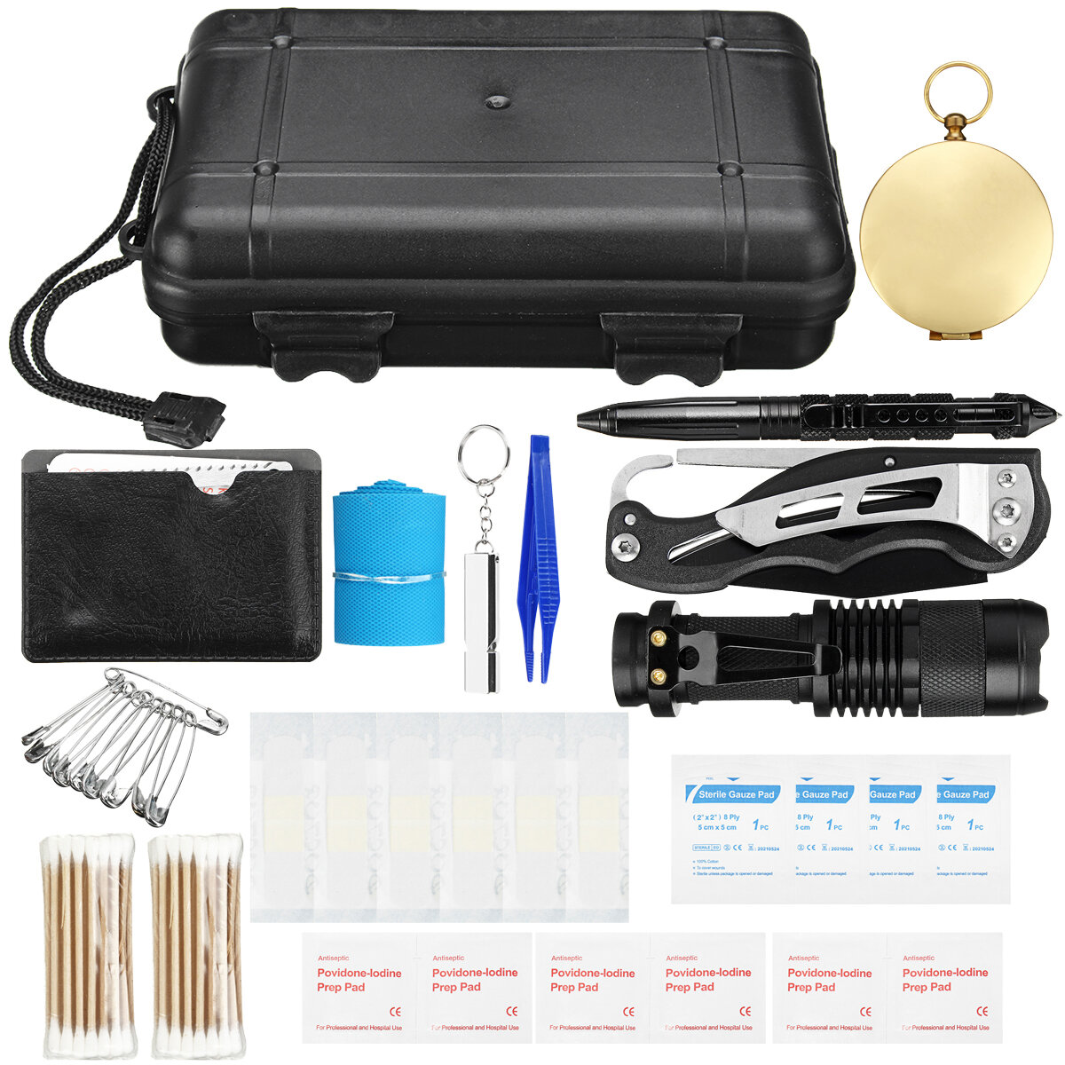 Field Survival Tools Kit Outdoor Multi-aid Equipment SOS Expedition Supplies