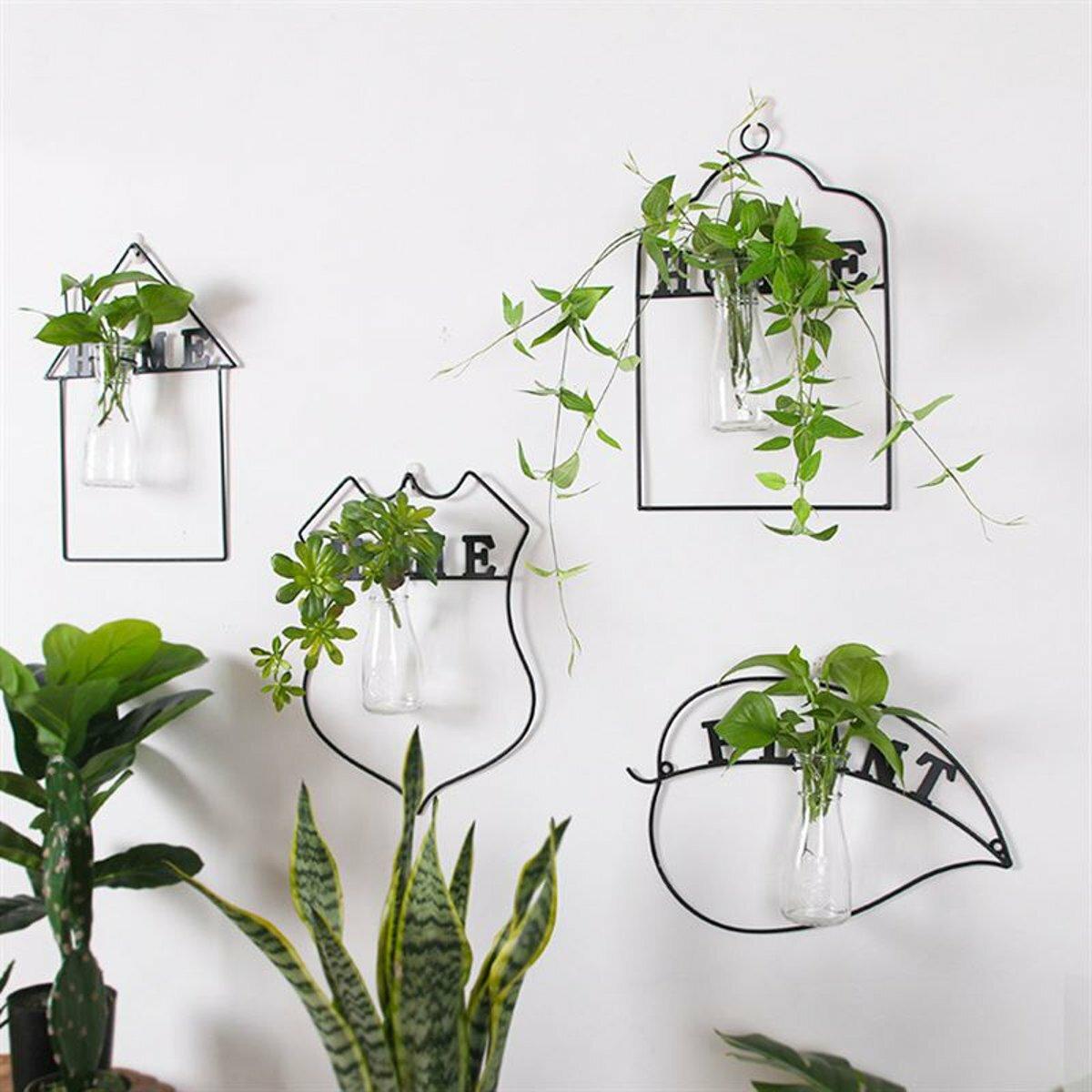 Wall Hanging Green Plant Flower Vase Planter Box Pot Flower Holder Home Decor
